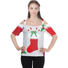 Christmas Stocking Cutout Shoulder Tee