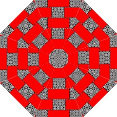 Black And White Red Patterns Folding Umbrellas