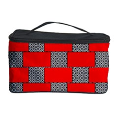 Black And White Red Patterns Cosmetic Storage Case