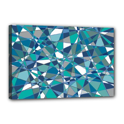 Abstract Background Blue Teal Canvas 18  X 12