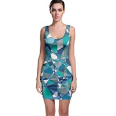 Abstract Background Blue Teal Bodycon Dress