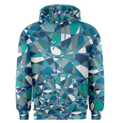 Abstract Background Blue Teal Men s Pullover Hoodie