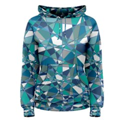 Abstract Background Blue Teal Women s Pullover Hoodie