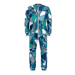 Abstract Background Blue Teal Onepiece Jumpsuit (kids)