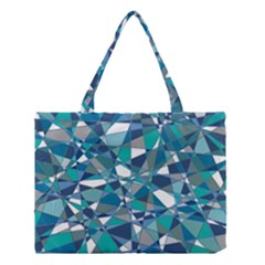 Abstract Background Blue Teal Medium Tote Bag