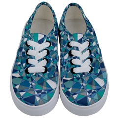 Abstract Background Blue Teal Kids  Classic Low Top Sneakers