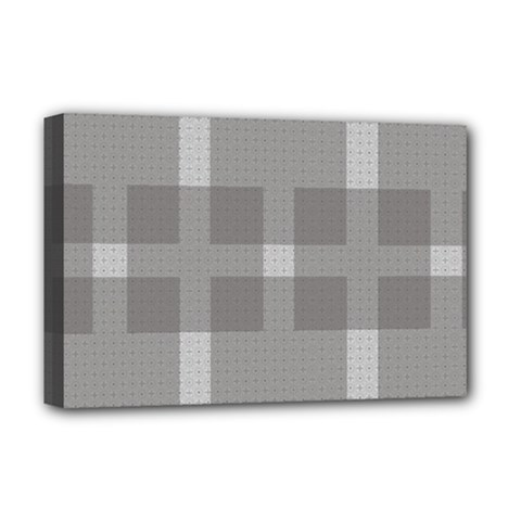 Gray Designs Transparency Square Deluxe Canvas 18  X 12