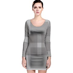 Gray Designs Transparency Square Long Sleeve Bodycon Dress