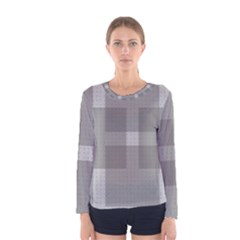 Gray Designs Transparency Square Women s Long Sleeve Tee