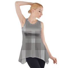 Gray Designs Transparency Square Side Drop Tank Tunic