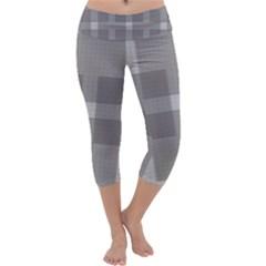 Gray Designs Transparency Square Capri Yoga Leggings