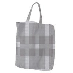 Gray Designs Transparency Square Giant Grocery Zipper Tote