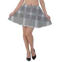 Gray Designs Transparency Square Velvet Skater Skirt