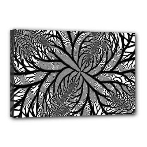Fractal Symmetry Pattern Network Canvas 18  X 12