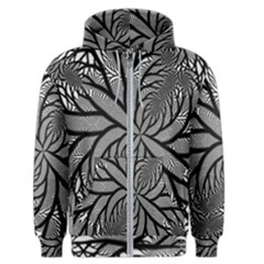 Fractal Symmetry Pattern Network Men s Zipper Hoodie