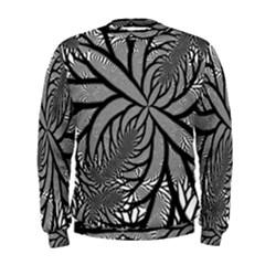 Fractal Symmetry Pattern Network Men s Sweatshirt