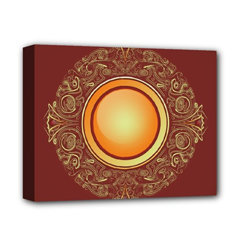 Badge Gilding Sun Red Oriental Deluxe Canvas 14  X 11