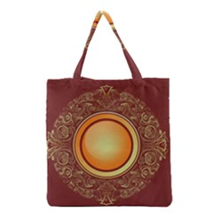 Badge Gilding Sun Red Oriental Grocery Tote Bag