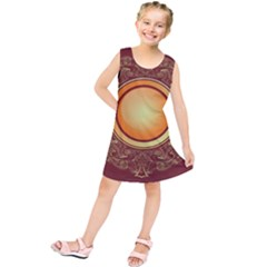 Badge Gilding Sun Red Oriental Kids  Tunic Dress