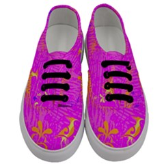 Spring Tropical Floral Palm Bird Men s Classic Low Top Sneakers