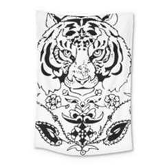 Tiger Animal Decoration Flower Small Tapestry