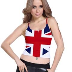 Uk Flag United Kingdom Spaghetti Strap Bra Top