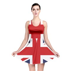 Uk Flag United Kingdom Reversible Skater Dress