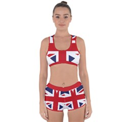 Uk Flag United Kingdom Racerback Boyleg Bikini Set