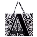 Alphabet Calligraphy Font A Letter Zipper Large Tote Bag View1