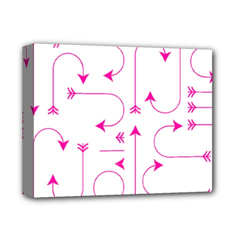 Arrows Girly Pink Cute Decorative Deluxe Canvas 14  X 11