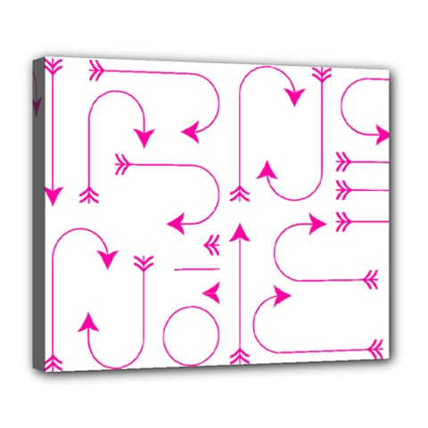 Arrows Girly Pink Cute Decorative Deluxe Canvas 24  X 20