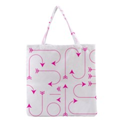 Arrows Girly Pink Cute Decorative Grocery Tote Bag
