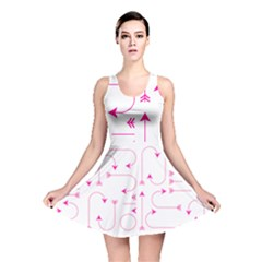 Arrows Girly Pink Cute Decorative Reversible Skater Dress