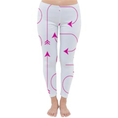 Arrows Girly Pink Cute Decorative Classic Winter Leggings