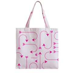 Arrows Girly Pink Cute Decorative Zipper Grocery Tote Bag