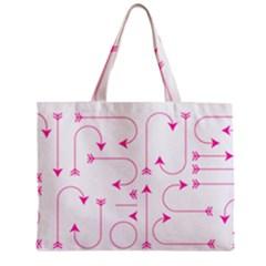 Arrows Girly Pink Cute Decorative Zipper Mini Tote Bag