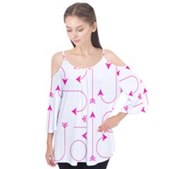 Arrows Girly Pink Cute Decorative Flutter Tees