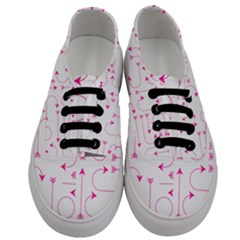 Arrows Girly Pink Cute Decorative Men s Classic Low Top Sneakers