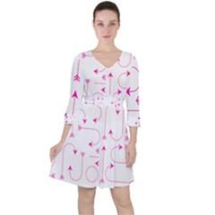 Arrows Girly Pink Cute Decorative Ruffle Dress