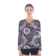 Floral Pattern Floral Background Women s Long Sleeve Tee