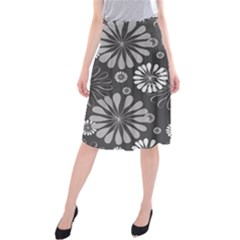 Floral Pattern Floral Background Midi Beach Skirt