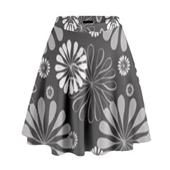 Floral Pattern Floral Background High Waist Skirt