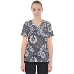 Floral Pattern Floral Background Scrub Top