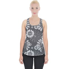Floral Pattern Floral Background Piece Up Tank Top