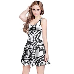 Seamless Tile Background Abstract Reversible Sleeveless Dress