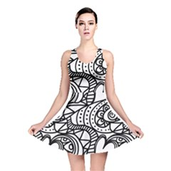Seamless Tile Background Abstract Reversible Skater Dress