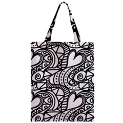 Seamless Tile Background Abstract Zipper Classic Tote Bag