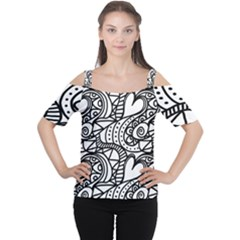 Seamless Tile Background Abstract Cutout Shoulder Tee