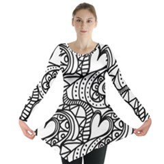Seamless Tile Background Abstract Long Sleeve Tunic