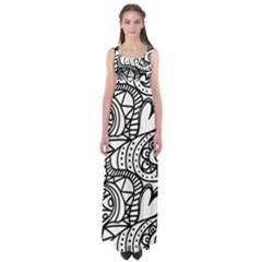 Seamless Tile Background Abstract Empire Waist Maxi Dress